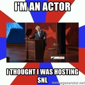 Invisible Obama - I'm an Actor I thought I was hosting SNL