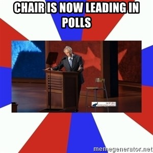 Invisible Obama - Chair is noW leading in polls