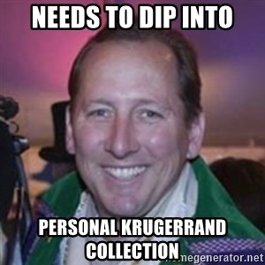 Pirate Textor - needs to dip into personal Krugerrand collection