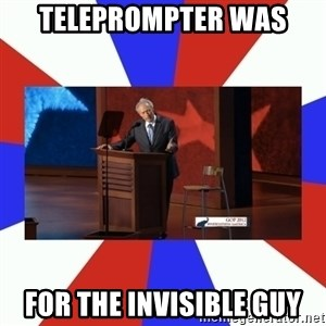 Invisible Obama - Teleprompter was for the invisible guy