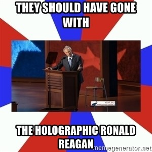 Invisible Obama - They should have gone with the holographic Ronald REAGAN