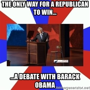 Invisible Obama - the only way for a republican to win... ...a debate with barack obama