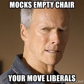 Clint Eastwood - Mocks empty chair Your move liberals