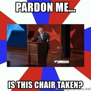 Invisible Obama - pardon me... is this chair taken?