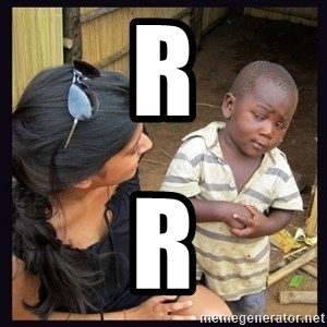 Skeptical third-world kid - r r