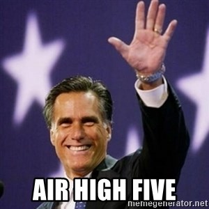 Mitt Romney - air high five