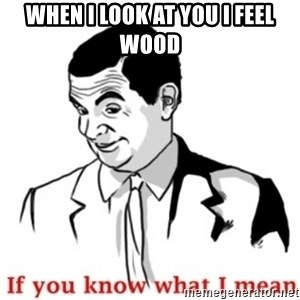 Mr.Bean - If you know what I mean - When I lOok at you I feel wood