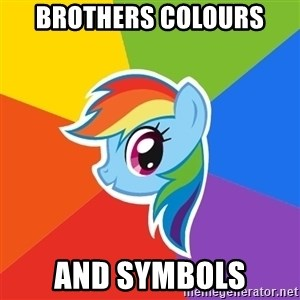 Rainbow Dash - BROTHERS COLOURS  AND SYMBOLS