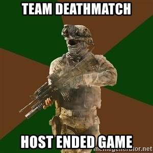 Call Of Duty Addict - team deathmatch host ended game