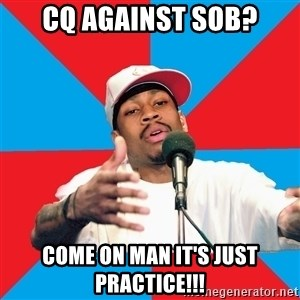 Allen Iverson - CQ against sob? Come on man it's just practice!!!
