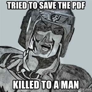 PDF Trooper - Tried to save the PDF killed to a Man