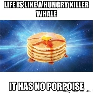 Nihilist Pancakes - Life is like a hungry killer whale It has no porpoise