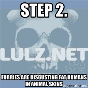 Lulz Dot Net - step 2. furries are disgusting fat humans in animal skins