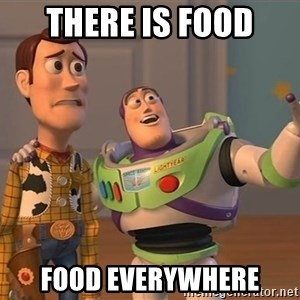 Toy Story Everywhere - there ıs food food everywhere