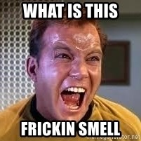 Screaming Captain Kirk - WHAT iS THIS  FRICKIN SMELL