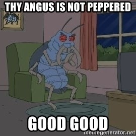 Good Good Bug - thy angus is not peppered good good