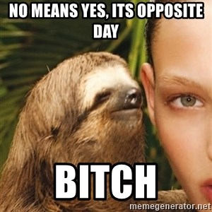 The Rape Sloth - No means yes, its opposite day bitch