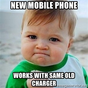 victory kid - New Mobile phone works with same old charger