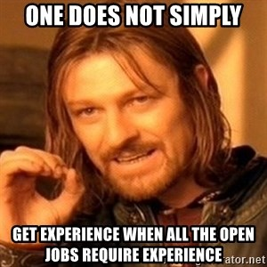 One Does Not Simply - one does not simply get experience when all the open jobs require experience