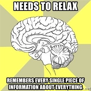 Traitor Brain - Needs To Relax Remembers Every single piece of information about everything