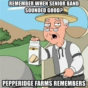 Pepperidge Farm Remembers guy - remember when senior band sounded good? pepperidge farms remembers