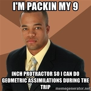 Successful Black Man - i'm packin my 9 inch protractor so i can do geometric assimilations during the trip