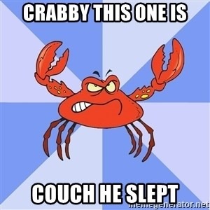 VasyaCrab - crabby this one is couch he slept