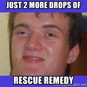 rally drunk guy - just 2 more drops of  rescue remedy