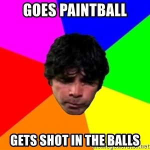 Loh Peshoh - goes paintball gets shot in the balls