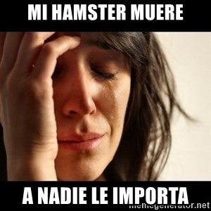 crying girl sad - Mi hamster muere a nadie le importa