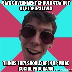 Hypocrite Gordon - says government should stay out of PEOPLE'S lives thinks they should open up more social programs