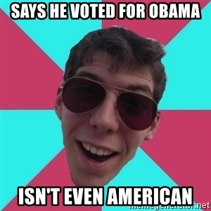 Hypocrite Gordon - Says he voted for obama isn't even american