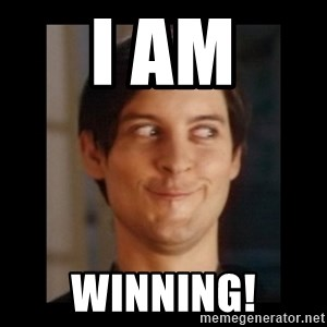 Toby Maguire trollface - I am Winning!