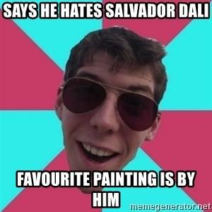Hypocrite Gordon - says he hates salvador dali favourite painting is by him