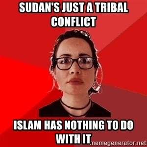 Liberal Douche Garofalo - Sudan's just a tribal conflicT Islam has NOTHING to do with it
