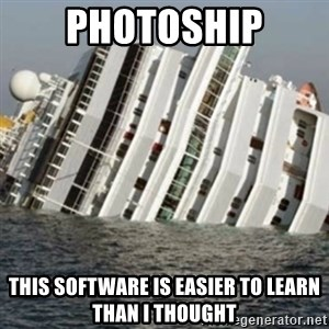 Sunk Cruise Ship - PHOTOSHIP tHIS SOFTWARE IS EASIER TO LEARN THAN I THOUGHT