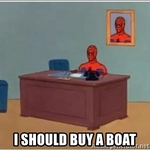 Spiderman Desk - i SHOULD BUY A BOAT