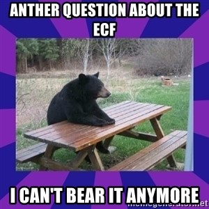 waiting bear - Anther Question about the ECF I can't bear it anymore