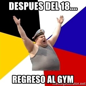Patriot - despues del 18.... regreso al GYM