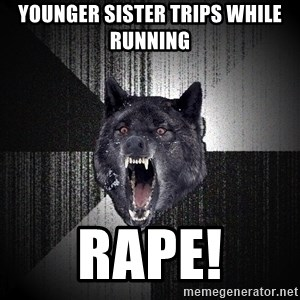 Insanity Wolf - Younger sister trips while running rape!