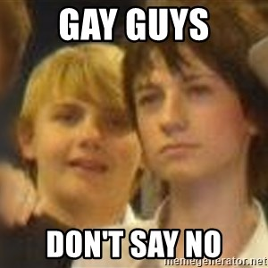 Thoughtful Child - Gay Guys don't say no