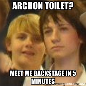 Thoughtful Child - archon toilet? meet me backstage in 5 minutes