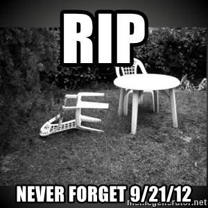 Chair Blown Over - RIP NEVER FORGET 9/21/12