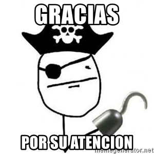Poker face Pirate - gracias por su atencion