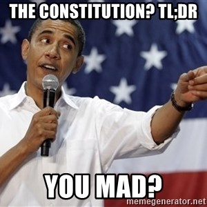Obama You Mad - The constitution? tl;DR you mad?
