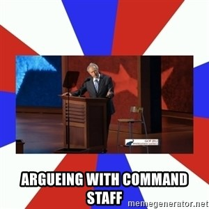 Invisible Obama - argueing with command staff