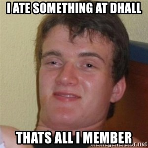 Really Stoned Guy - I ate something at Dhall Thats all i member
