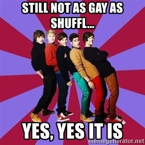 typical 1D - Still not as gay as shuffl... yes, yes it is