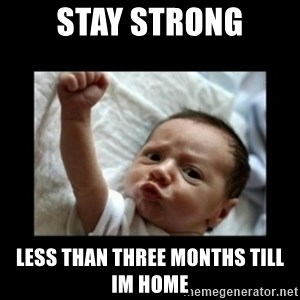 Stay strong meme - stay strong less than three months till im home