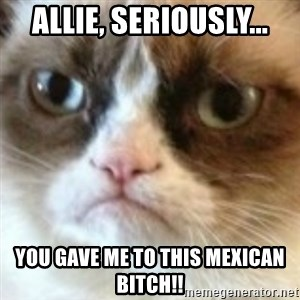 angry cat asshole - Allie, seriously... You gave me to this mexican bitch!!